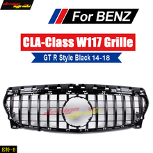 W117 GTS Grille grill ABS Gloss Black Fits For MercedesMB CLA-Class CLA200 CLA180 CLA250 Sports Front Grills Without sign 14-18
