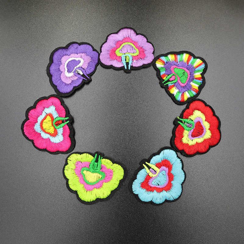 Красочные вышитые розы Швейные железные на патч цветок патч наклейки на значок шитье тканевая Аппликация Скрапбукинг