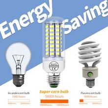 220V светодиодный кукурузный светильник лампочка E14 Светодиодный лампа «Кукуруза» E27 5730SMD 240V энергосберегающий светильник ing 24 36 48 56 69 72 светодиодный s Lampada для Гостиная