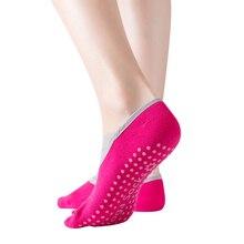 Новые 4 пары Женские носки для йоги противоскользящие частицы крест сплошной цвет Танцы для пилатеса и йоги удобные носки из хлопка спортивные носки