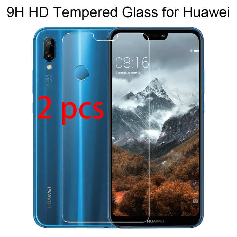 2pcs 9H Hard Toughed Tempered Protective Glass for Huawei Y7 Prime Y6 Pro Y5 Lite Y3 Screen Protector on Huawei Y6 Y5 Y3 ii