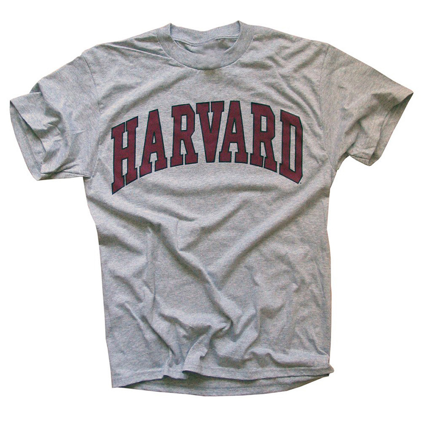 Harvard University T-Shirt - Arched Block - Officially Licensed title=