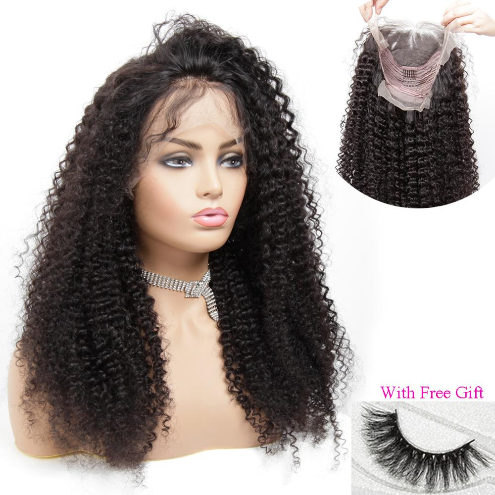 13x4 Remy Curly Lace Front Wig Women's Human Hair Wigs For Black Women Salon Wig Near Me Pre Plucked Frontal Ponytail Toppers