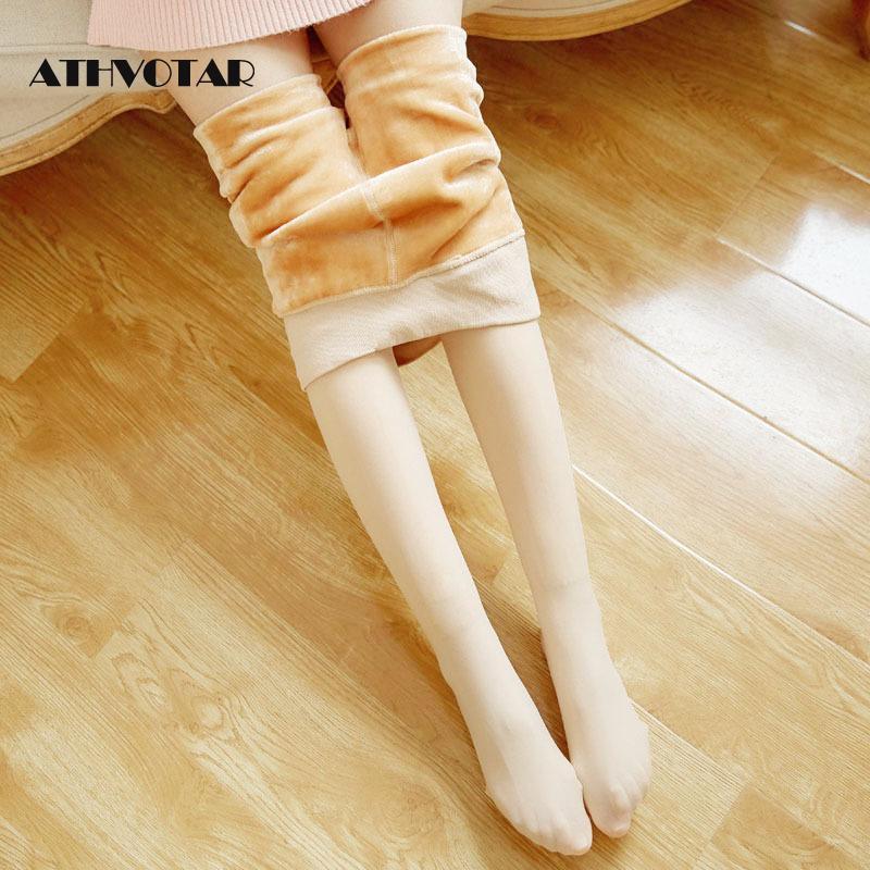 ATHVOTAR Winter Women Tights Autumn Hosiery Black Pantyhose Medias Nylon Tights Women Keep Warm Female Pantyhose Stockings