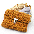 DIY Hand Stricken Tasche Materialien Paket, Häkeln T Hemd Garn Der Tasche Material, manuelle Tuch Stoff Streifen Gewinde für Woven Tasche