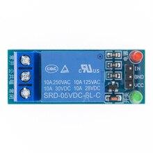 50 pçs/lote 1 canal 5v relé módulo de baixo nível para scm eletrodomésticos controle