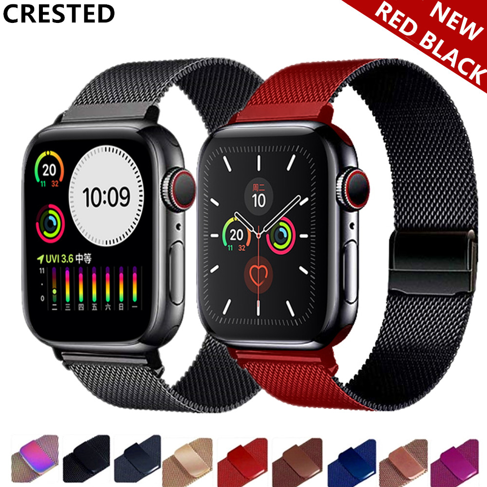Strap For Apple Watch Band 5 4 3 42mm 38mm Correa Watchband Link Bracelet Pulseira Milanese Loop Applewatch Iwatch 44mm/40mm