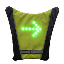 2019 LED Wireless Cycling Vest MTB Bike Bag Safety LED Turn Signal Light Bicycle Reflective Warning Vests With Remo Accessories(China)