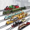 Pociągi miasto utwór układanie maszyna funkcja mocy high-tech stacja kolejowa klocki do budowy cegły DIY zabawki dla dzieci prezent na boże narodzenie
