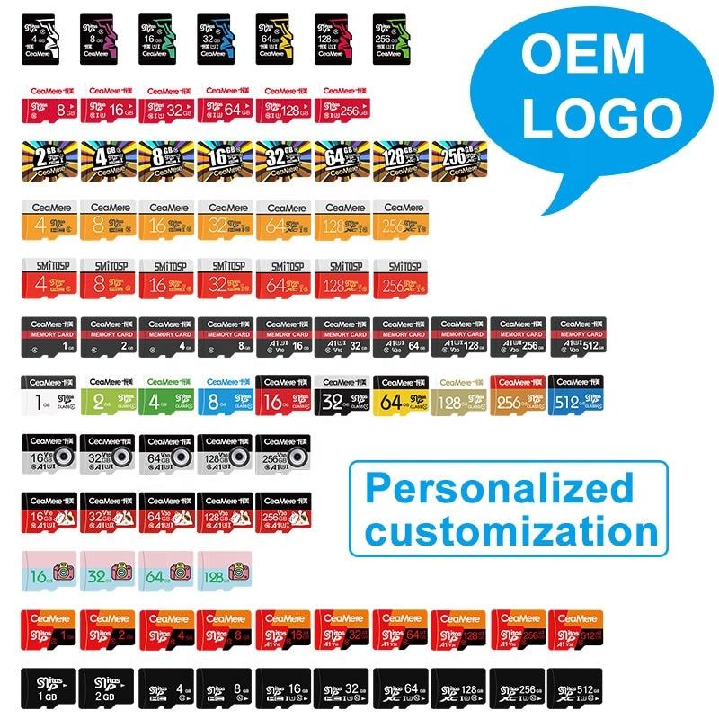 Custom Logo Wholesale Real Capacity Memory Card 50PCS 32GB 16GB 8GB 64GB 128GB 256GB Micro SD Card Class10 U1 U3 SD Original Mem 5