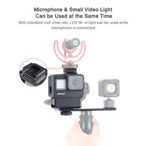 Image 3 - 울란지 V2 프로 스포츠 카메라 케이지 Vlog 케이스 보호 케이지 마이크 비디오 라이트 52mm 필터 마이크 어댑터 GoPro Hero 7 6 5