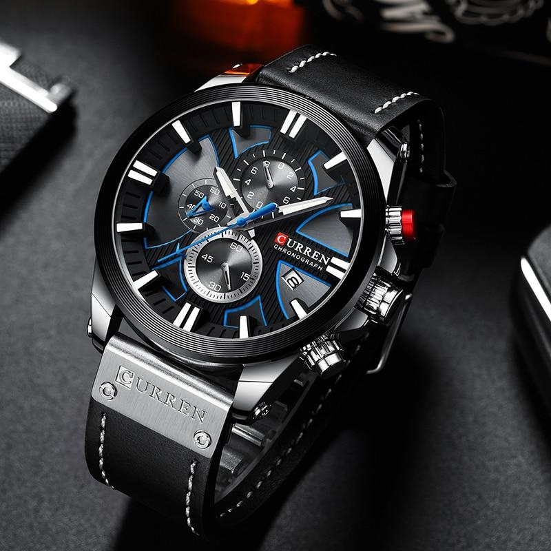 New CURREN Men Watches Fashion Quartz Wrist Watches Men's Military Waterproof Sports Watch Male Date Clock Relogio Masculino 1