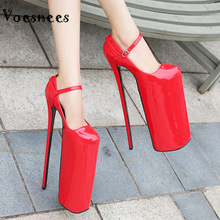 Women Pumps Platform Thin-Heels Super And Pole Waterproof Spring 30cm Voesnees Dance