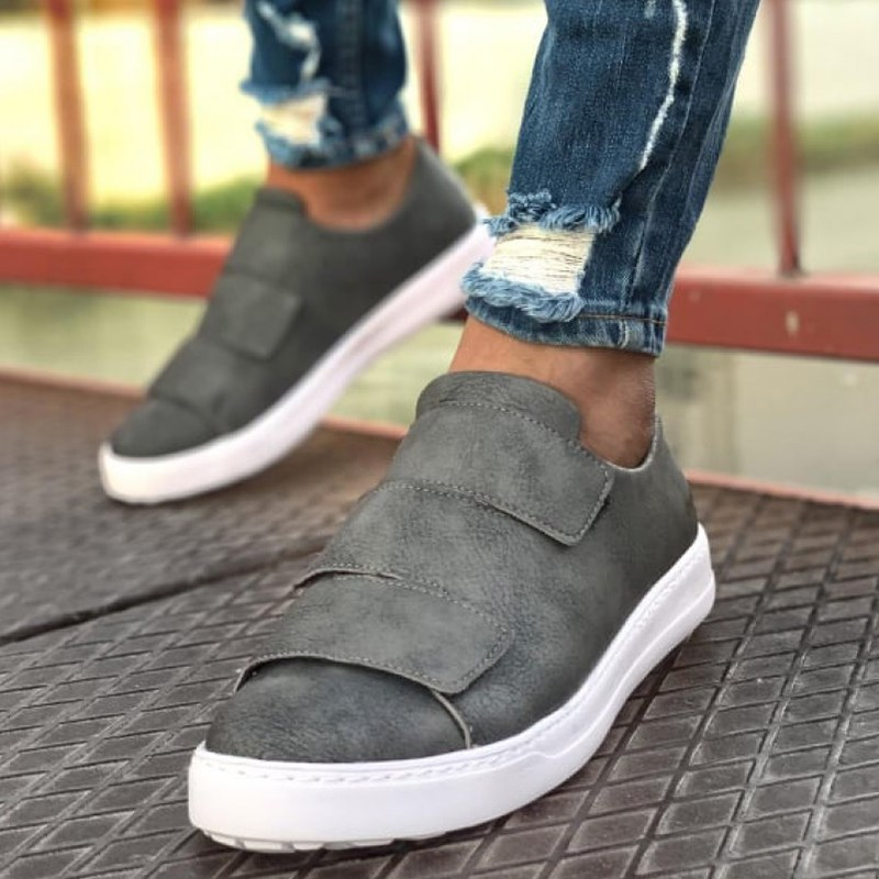 Chekich Men Casual Shoes For Men Sport High Sole Shoes Lace-up Men Sneakers Shoes Comfortable Flexible Fashion Style Leather Wedding Classic Shoes Breathable Walking Running Sneakers Tenis Zapatillas Hombre CH007