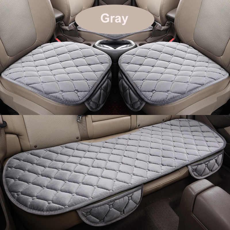 Чехол для автомобильного сиденья, Зимняя Теплая Бархатная подушка для сиденья, универсальная накладка на переднее и заднее сиденье для внедорожника, защита автомобильного сиденья