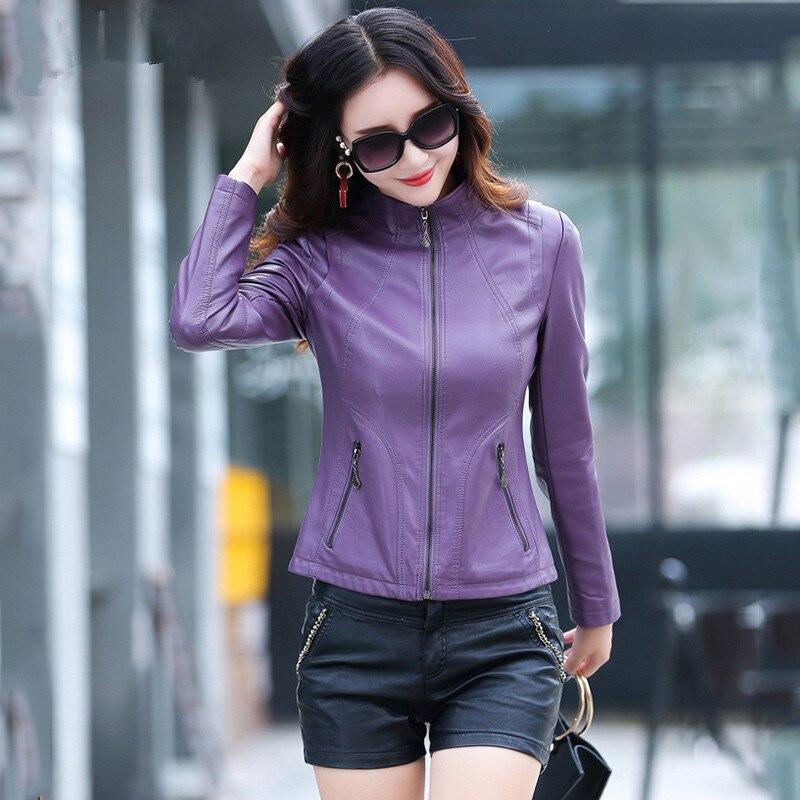 Jacket Leather Genuine Spring Jacket Women Real Sheepskin Coat Female Short Korean Jackets Plus Size Casaco Feminino MY S