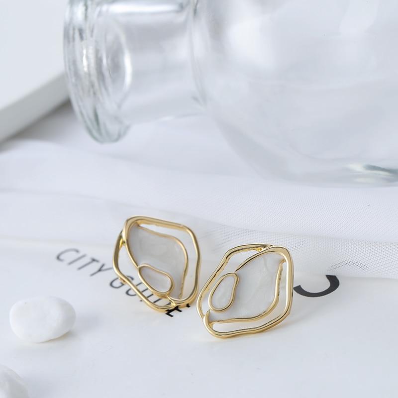 Shamir earrings new temperament simple geometrical irregular earrings girl jewelry gifts