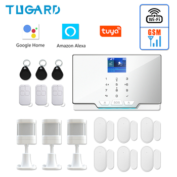 Newest White G20 WIFI GSM Home Security Alarm System Tuya Smart Burglar Alarm Kit with 433Mhz Wireless Detector and Door Sensor цена 2017
