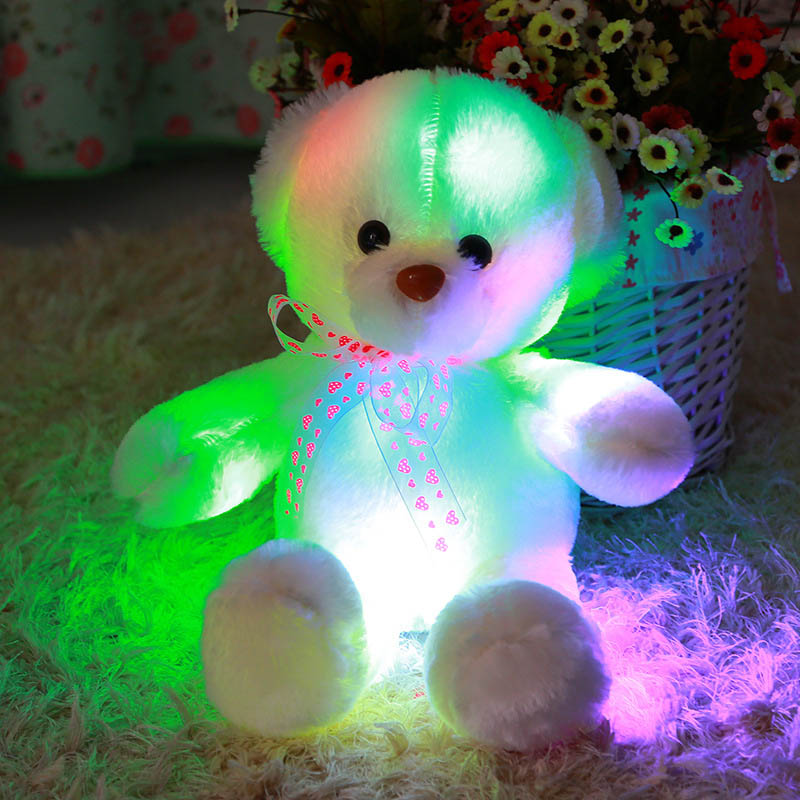 50 centimetros criativo light up led com musica teddy bear stuffed animal plush brinquedo de incandescencia