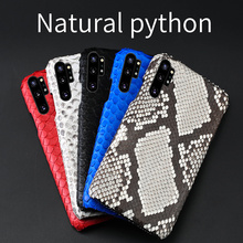 Genuine Python leather phone case For samsung note 10 plus 10+ shockproof coque for Galaxy