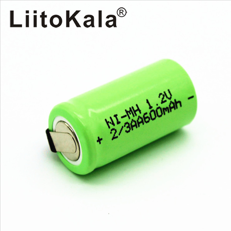 LiitoKala 2/3 <font><b>AA</b></font> Rechargeable <font><b>Battery</b></font> 600mAh Ni-Cd nicd <font><b>1.2V</b></font> <font><b>Battery</b></font> <font><b>Batteries</b></font> Blue - the more , the cheaper- image
