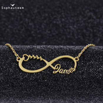 Custom Name Necklaces For Women Men Rose Gold Silver Color Stainless Steel Chain Nameplate Pendant Necklace Personalized Jewelry custom name choker necklace for women men stainless steel cuban chain gold necklace nameplate necklaces boho jewelry collares