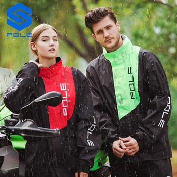 Polak wodoodporny motocykl kostium przeciwdeszczowy płaszcz przeciwdeszczowy + spodnie przeciwdeszczowe Poncho motocykl kurtka przeciwdeszczowa motocykl konna płaszcz przeciwdeszczowy motocykl tanie i dobre opinie Nylon Spinning+PU Raincoat 1 0kg PVC+mesh+PU glue Fluorescent green M L XL XXL KULOU
