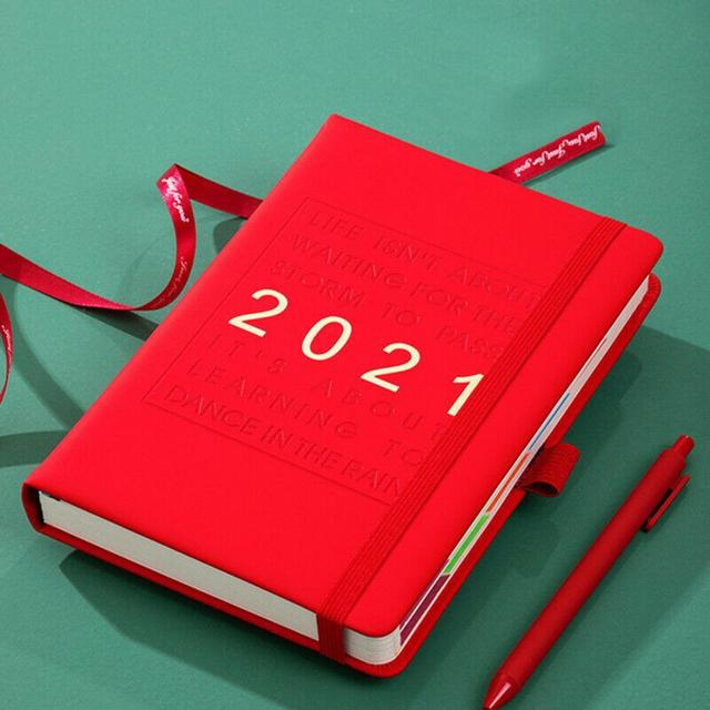 2021 Note Book Thicken Page Time Manager Rectangle Class Recording Memo Pad Notebook for Memo Writing