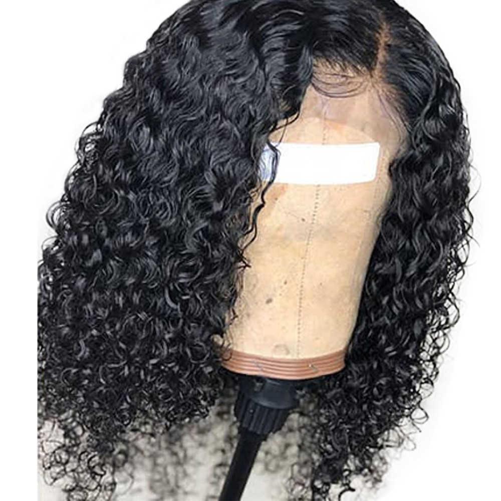Eseewigs 150% onda de água 13x4 peruca dianteira do laço cabelo humano para as mulheres brasileiro remy cabelo pré arrancado com o cabelo do bebê descorado nós