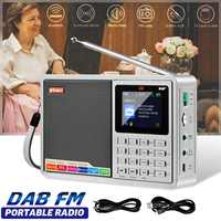 GTMEDIA D2 Portable DAB DAB+FM Radio Full Band Digital Radio MP3 Music Player Clock Alarm FM Radio AUX USB LCD Display Highlight
