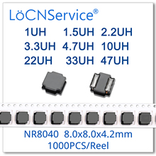 LoCNService 1000PCS NR8040 1UH 1.5UH 2.2UH 3.3UH 4.7UH 10UH 22UH 33UH 47UH 8.0*8.0*4.2 SMD Power Inductors High Quality