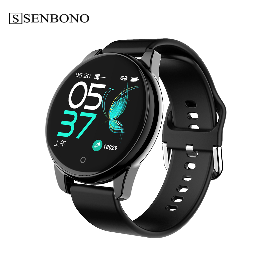 SENBONO Men smart watch Sport Pedometer Smart Watch Fitness Tracker Heart Rate Monitor Women Clock Smartwatch for Android IOS