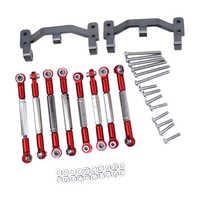 for WPL B1 B-1 B14 B-14 B24 B-24 C14 1/16 RC Car Spare Parts Upgrade Metal Pull Rod Steering Pull Rod Servo Rod Pull Rod Base