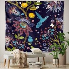 Plant home art decorative tapestry flower Mandala tapestry travel mattress Hippie Bohemia decorative yoga mat sofa blanket