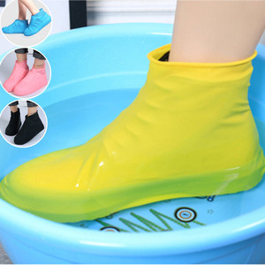 Boots Waterproof Shoe Cover Silicone Material Unisex Non-slip Rubber Rain Boots Overshoes For Outdoor Rainy Days