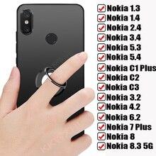 Dla Nokia 1 Plus 1.3 1.4 2.1 2.2 2.3 2.4 3 3.1 3.2 3.4 4.2 5 5.1 5.3 5.4 6 7 7.1 z powrotem pierścień uchwyt etui na telefon miękka okładka