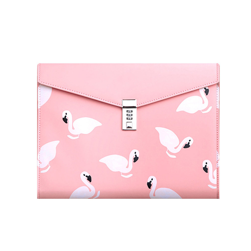 New Design A4 PU Leather Password Lock Document Bag Manager File Folder TPN086-1