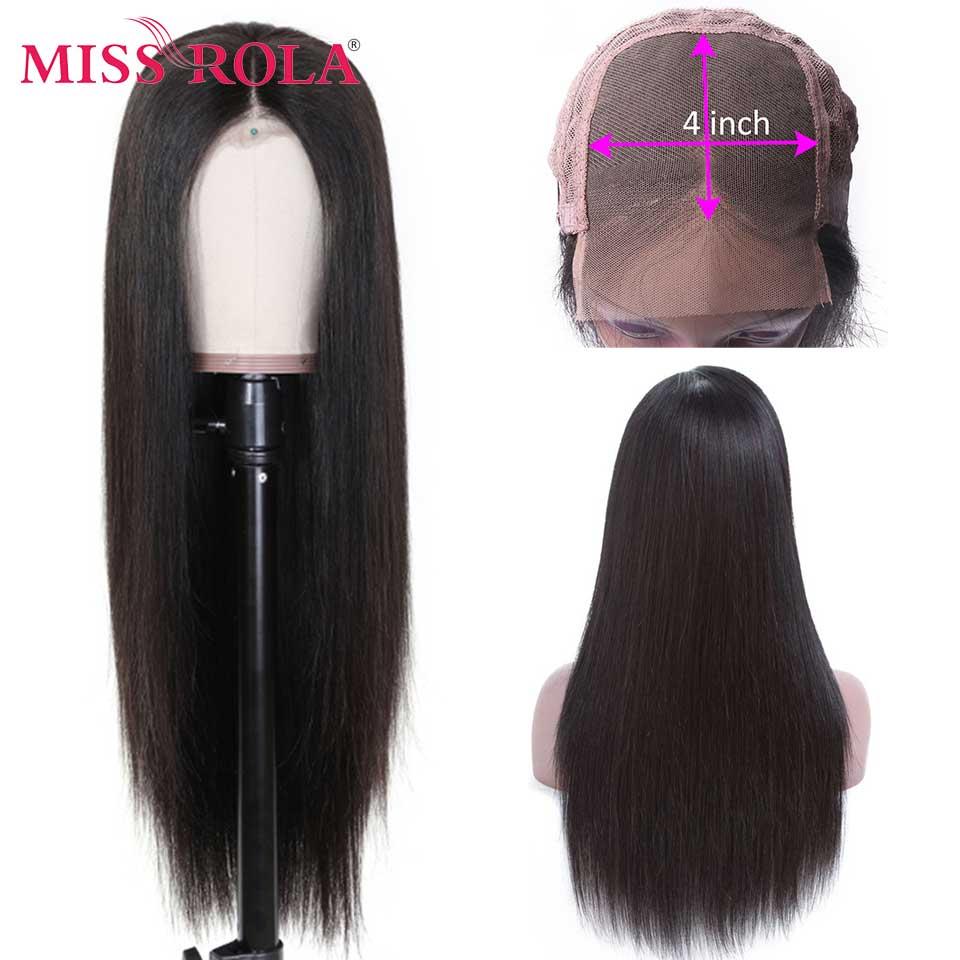 Miss Rola Hair 13*4 парики из натуральных волос на кружеве 150% плотность прямые бразильские волосы Remy для черных женщин