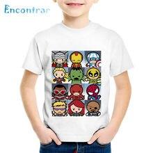 Crianças dos desenhos animados imprimir bonito super-herói grade engraçado t-shirts crianças verão t meninos/meninas topos roupas de bebê, ohkp2007