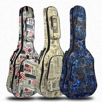 Bolsa de transporte para guitarra de 40 / 41 pulgadas, mochila 600D Oxford impermeable, funda para guitarra folclórica acústica con correas de hombro