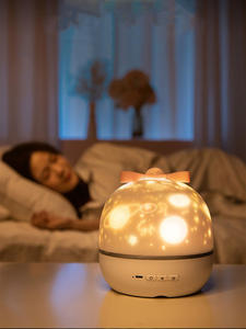 Speaker Night-Light-Projector Room-Light Bedroom Music Star Constellation Bluetooth Baby