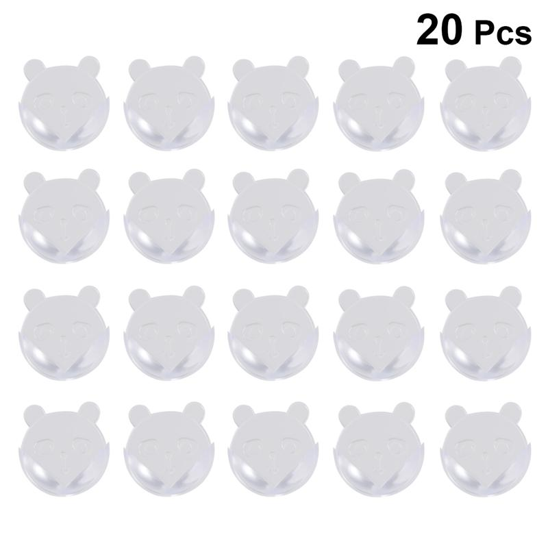 20Pcs Child Baby Safety Silicone Protector Table Bear Shaped Corner Edge Protection Cover Children Anticollision Edge & Guards