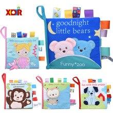 Toys 0-24-Months Baby Newborn Cloth Rattle Crib Bed Stroller Soft-Cloth-Books Rustle-Sound