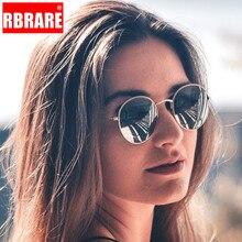 RBRARE Classic Alloy Small Frame Sunglasses Women Reflective Lens Sun Glasses Vintage Metal Frame Oculos Feminino Pink Mirror цена