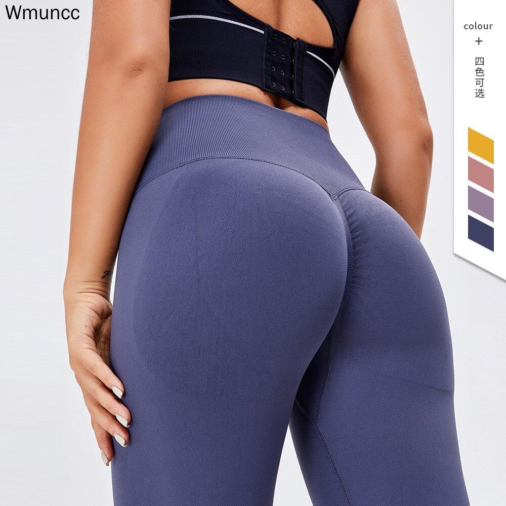 Wmuncc Women High Waist Yoga Pants Seamless Tummy Control Leggings Push Up Running Jogging Sports Athletic Tight Hip Shaping|Yoga Pants| - AliExpress