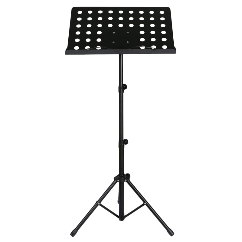 50 X 35cm Sheet Music Stand Folding Metal Music Score Tripod Stand Holder With Widened Thickened Large Panel For All Musical Ins