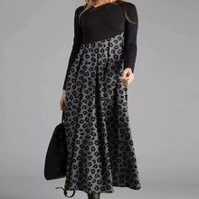 Elegant Women Dress Autumn 2020 Winter Retro Print Party Dresses Cross V-Neck Long Sleeves Slim Midi Dress Lady Casual Veatidos