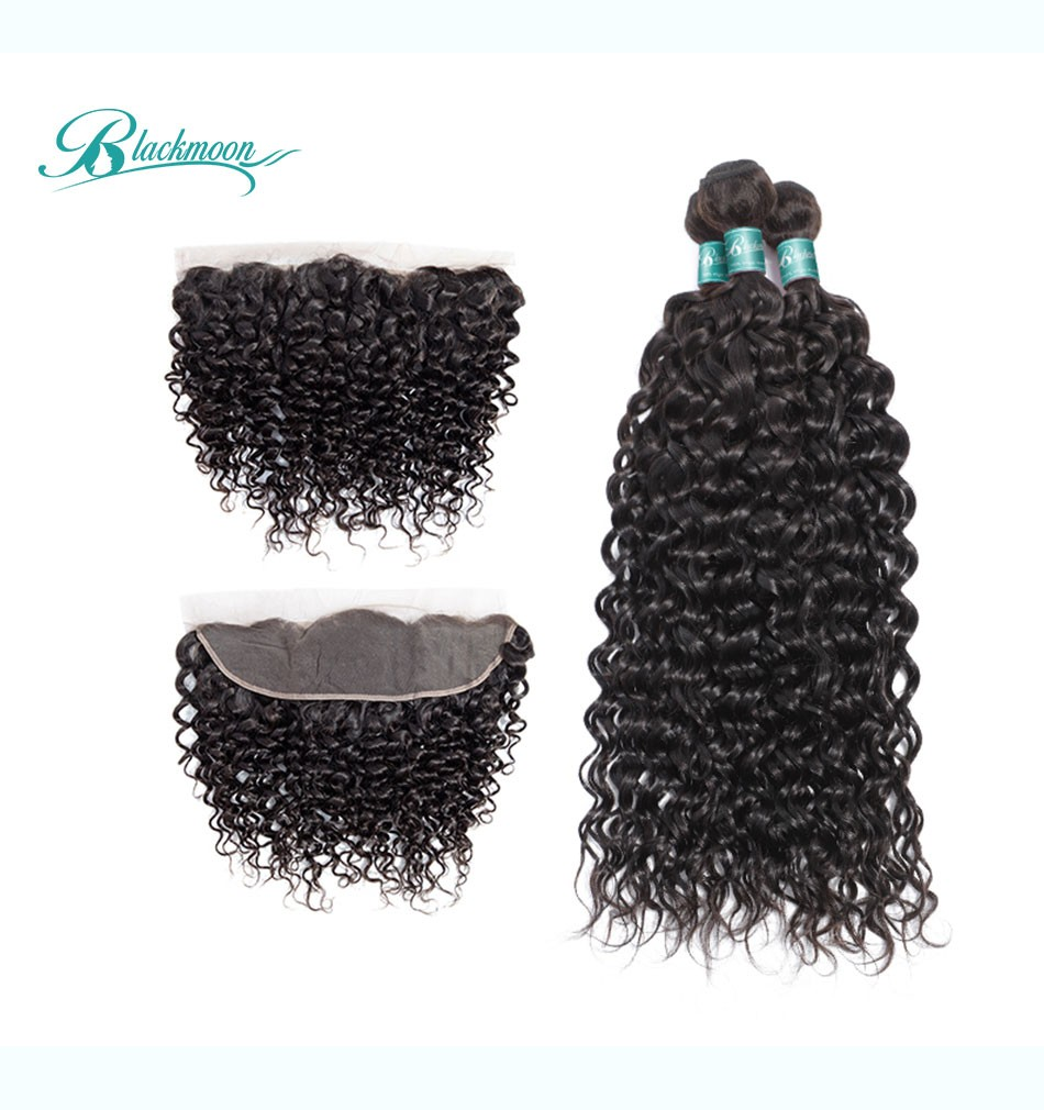water wave hair weave 3 4 bundles with frontal--3+13_05