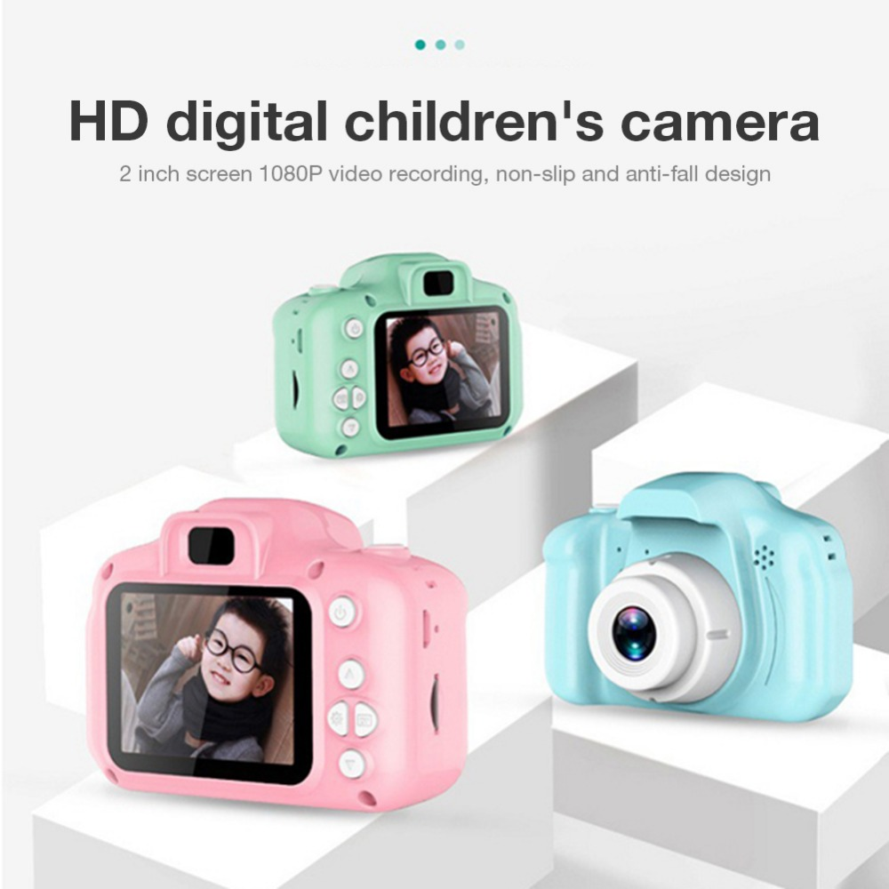 Hf10196e0a1f34ff0bb94d96b286b5591v Rechargeable Kids Mini Digital Camera 2.0 Inch HD Screen 1080P Video Recorder Camcorder Language Switching Timed Shooting #S
