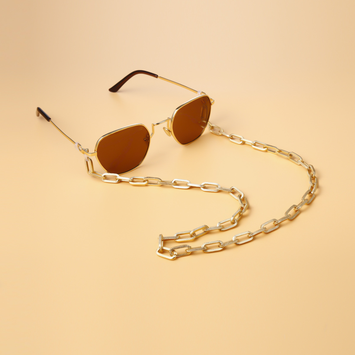 Retro Geometric Tassel Women Men Sunglasses Accessories Eyeglasses Holder Cross Chains Glasses Chain Lanyard